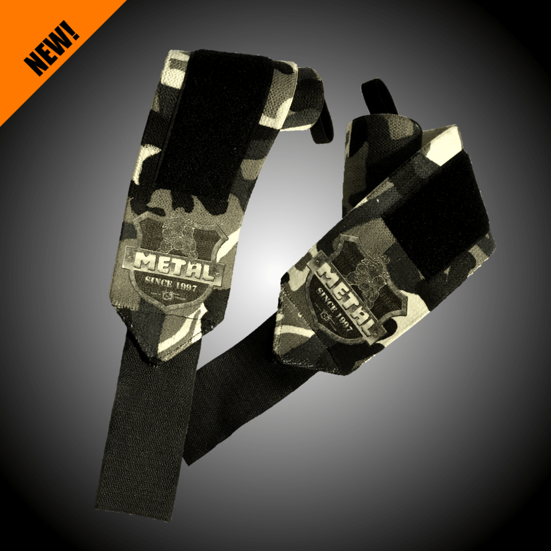 METAL Mystical Wrist Wraps - gray camo (pár)